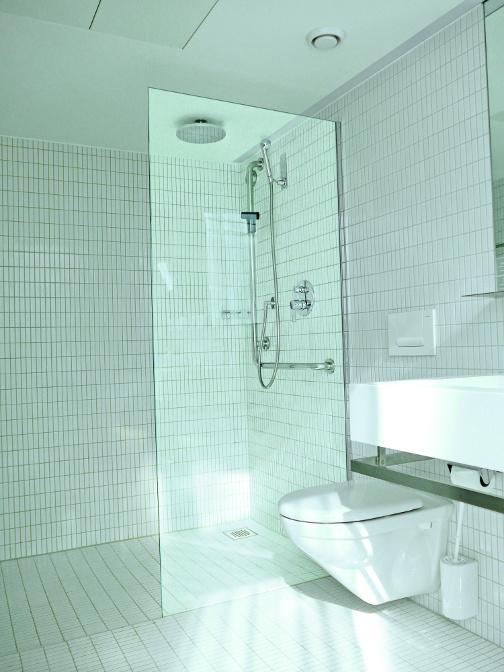 Duschentrennwand freistehende