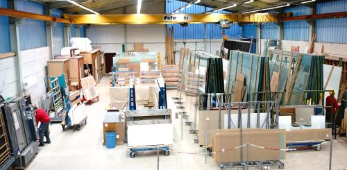 Produktion Glasverarbeitung