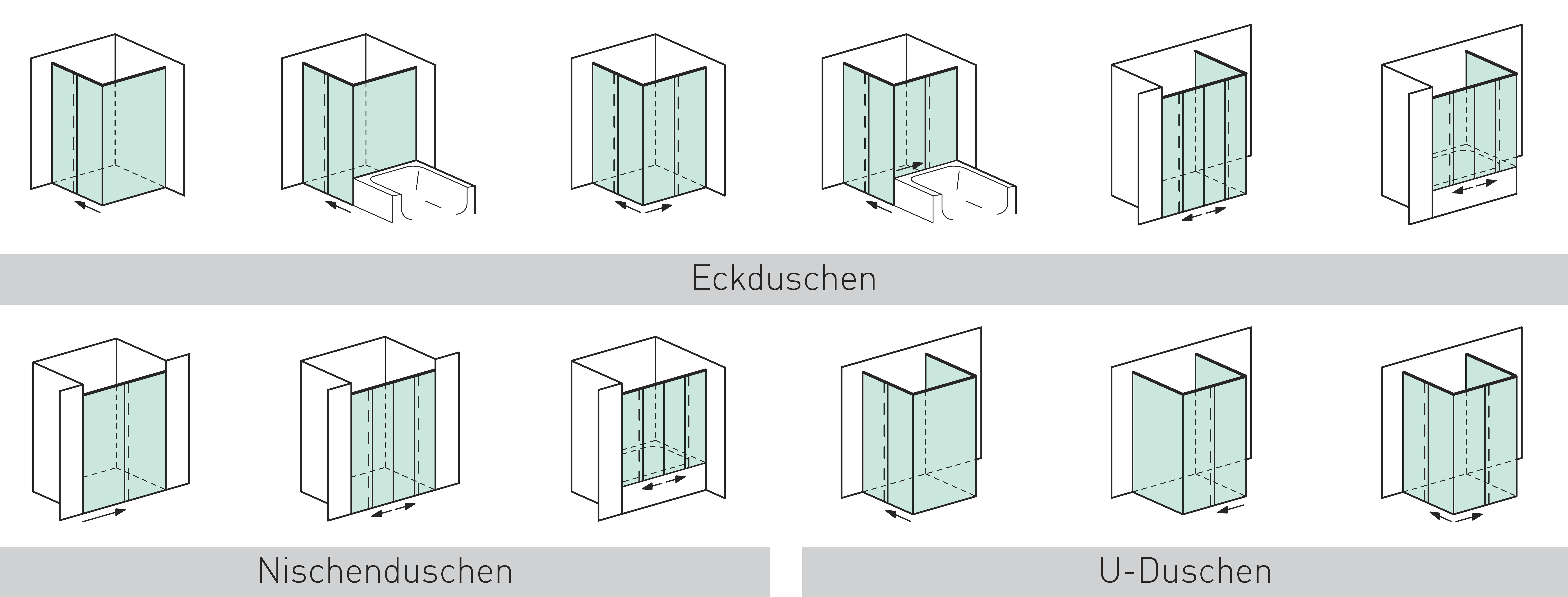 Duschschiebetürsysteme